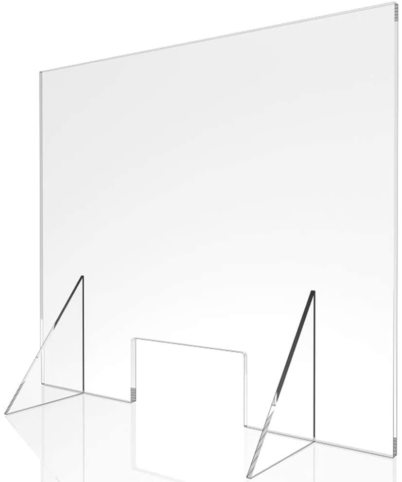 Checkout Counter Office Sneeze Guard Clear Acrylic Cough Screen//Barrier//Shield